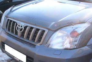 Toyota Land Cruiser Prado 2003-2008 - Дефлектор капота, карбон. (EGR) фото, цена