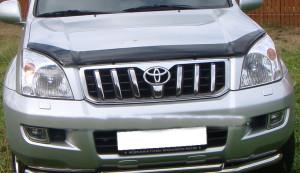 Toyota Land Cruiser Prado 2003-2008 - Дефлектор капота, темный. (EGR) фото, цена