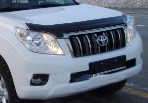 Toyota Land Cruiser Prado 2009-2012 - Дефлектор капота, темный. (EGR) фото, цена