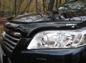 Toyota Rav 4 2010-2012 - Дефлектор капота, темный, с надписью, EGR фото, цена