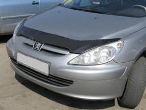 Peugeot 307 2001-2005 - Дефлектор капота (мухобойка), VIP Tuning фото, цена