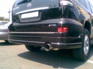 Toyota Land Cruiser Prado 2003-2008 - Накладка заднего бампера, реплика. (JAOS) фото, цена