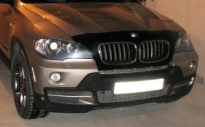 BMW X6 2008-2012 - Дефлектор капота (мухобойка) темный. фото, цена