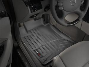 Mercedes-Benz CLS 2006-2010 - Коврики резиновые с бортиком, передние, черные. (WeatherTech) фото, цена
