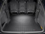 Toyota Sienna 2004-2010 - (2 ряда) Коврик резиновый в багажник, черный. (WeatherTech) фото, цена