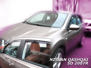 Nissan Qashqai 2007-2011 - Дефлекторы окон (вставка) к-т 4 шт. Heko-team, фото, цена