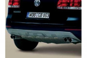 Volkswagen Touareg 2002-2007 - Накладка заднего бампера, антрацит (VW) фото, цена