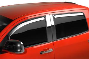 Toyota Tundra 2007-2013 - Дефлекторы окон хромированные  к-т 4 шт. (Putco) вставные фото, цена
