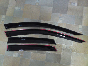 Mitsubishi Pajero 2006-2013 - Дефлекторы окон (ветровики), комлект. (Cobra Tuning) фото, цена