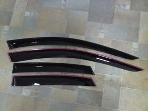Nissan Navara 2005-2013 - Дефлекторы окон (ветровики), комлект. (Cobra Tuning) фото, цена