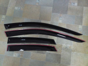 Nissan Note 2005-2013 - Дефлекторы окон (ветровики), комлект. (Cobra Tuning) фото, цена