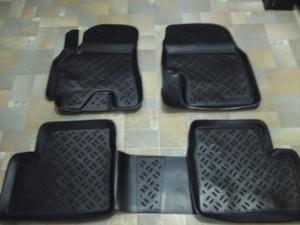Peugeot 307 2001-2011 - Коврики резиновые, черные, комплект 5 штук. (Eleron) фото, цена