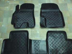 Skoda Fabia 2007-2014 - Коврики резиновые, черные, комплект 4 штуки. (Eleron) фото, цена
