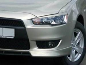 Mitsubishi Lancer 2007-2013 - Реснички на фары, комплект 2 штуки, (UA) фото, цена