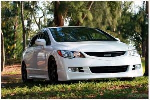 Honda Civic 2006-2013 - Юбка передняя, Mugen-style, UA фото, цена