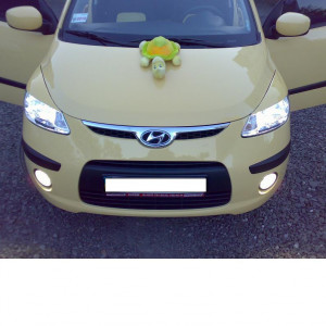Hyundai i 10 2007-2013 - Реснички на фары, комплект 2 штуки, UA фото, цена