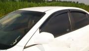Chevrolet Aveo 2003-2006 - (хэтчбек) - Дефлекторы окон (ветровики), комлект. (Clover) фото, цена