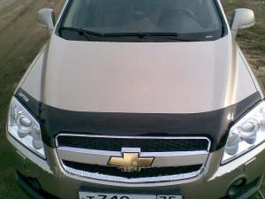 Chevrolet Aveo 2006-2012 - Дефлектор капота (мухобойка). (Voron Glass) фото, цена