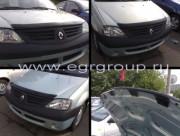 Dacia Logan 2004-2012 - Дефлектор капота (мухобойка), темный. (EGR) фото, цена