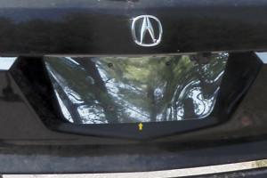 Acura MDX 2007-2013 - Хромированная накладка под номер. (SAA) фото, цена