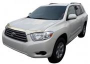 Toyota Highlander 2008-2009 - Дефлектор капота, хромированный (AVS) на клей!! фото, цена