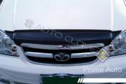 Chevrolet Lacetti 2003-2012 - Дефлектор капота, (мухобойка) темный. (Clover) фото, цена