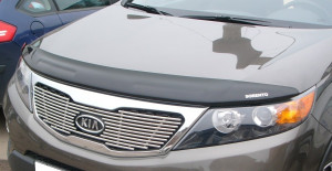 Kia Sorento 2009-2012 - Дефлектор капота, темный, с надписью, EGR фото, цена