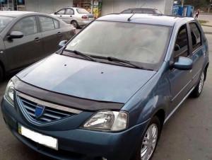Dacia Logan 2004-2012 - Дефлектор капота (мухобойка). (VIP Tuning) фото, цена