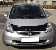 Honda Jazz/Fit 2001-2008 - Дефлектор капота (мухобойка), VIP Tuning фото, цена