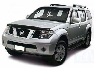 Nissan Navara 2001-2006 - Дефлектор капота (мухобойка), VIP Tuning фото, цена