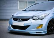 Hyundai Elantra 2011-2013 - Дефлектор капота (мухобойка), VIP Tuning фото, цена