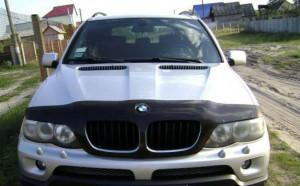 BMW X5 1999-2006 - Дефлектор капота (мухобойка). (FORMFIT) фото, цена