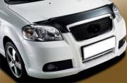Chevrolet Aveo 2005-2012 - Дефлектор капота (мухобойка), темный, BREEZE. (EGR) фото, цена