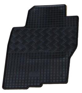 Nissan Navara 2010-2014 - Коврики резиновые, черные, комплект 4 штуки. (Rigum) фото, цена