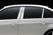 BMW 3 2006-2009 - Накладки на стойки хромированные, комплект 6 штук. (SES Trims®) фото, цена