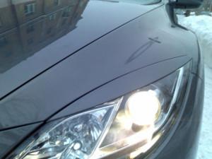 Mazda 6 2008-2012 - Реснички на фары, под покраску, комплект 2 шт. (UA) фото, цена
