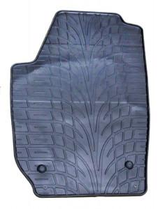 Skoda Fabia 2007-2013 - Коврики резиновые, темно-серые, комплект 4 штуки. (Doma) фото, цена