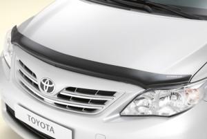 Toyota Corolla 2006-2012 - Дефлектор капота (мухобойка). Toyota фото, цена