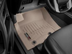 Toyota Land Cruiser Prado 2013-2018 - Коврики резиновые с бортиком, передние, бежевые. (WeatherTech) фото, цена