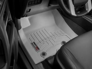 Toyota Land Cruiser Prado 2013-2018 - Коврики резиновые с бортиком, передние, серые. (WeatherTech) фото, цена