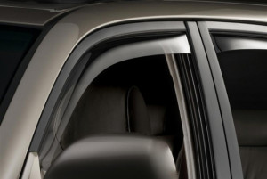 Toyota 4Runner 2003-2009 - Дефлекторы окон (ветровики), передние, светлые. (WeatherTech) фото, цена