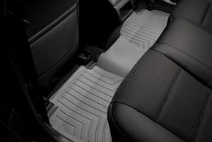 Toyota Camry 2011-2016 - Коврики резиновые с бортиком, задние, серые. (WeatherTech) фото, цена