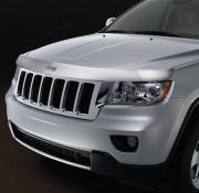 Jeep Grand Cherokee 2011-2014 - Дефлектор капота хромированный. (Chrysler) фото, цена