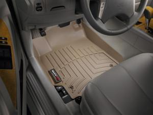 Toyota Camry 2006-2010 - Коврики резиновые с бортиком, передние, бежевые. (WeatherTech) фото, цена