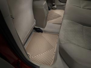 Toyota Corolla 2009-2012 - Коврики резиновые, задние, бежевые. (WeatherTech) фото, цена