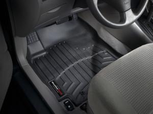 Toyota Corolla 2001-2008 - Коврики резиновые с бортиком, передние, черные. (WeatherTech) фото, цена