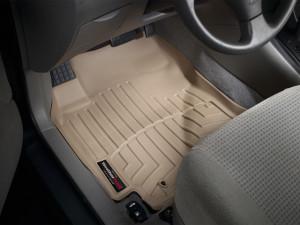 Toyota Corolla 2001-2008 - Коврики резиновые с бортиком, передние, бежевые. (WeatherTech) фото, цена
