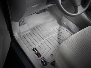 Toyota Corolla 2003-2008 - Коврики резиновые с бортиком, передние, серые. (WeatherTech) фото, цена