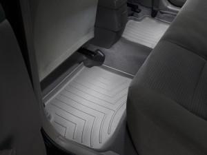 Toyota Corolla 2001-2008 - Коврики резиновые с бортиком, задние, серые. (WeatherTech) фото, цена