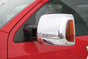 Toyota Tundra 2007-2014 - Хромированные накладки на зеркала телескопические. (Putco) фото, цена
